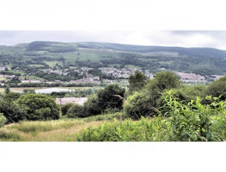 Cwmbach from Aberaman Line (Dare Valley Country Park)