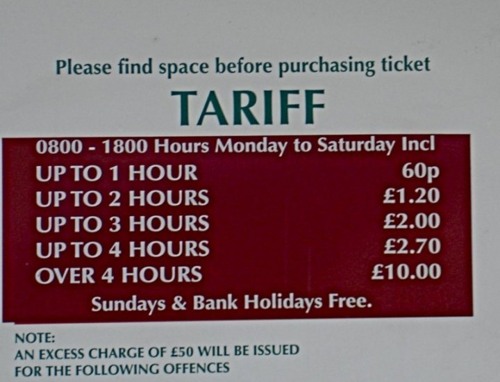 Excessive Car Parking Charges In Rhondda Cynon Taf