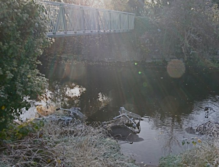 Trolleys In The River Cynon