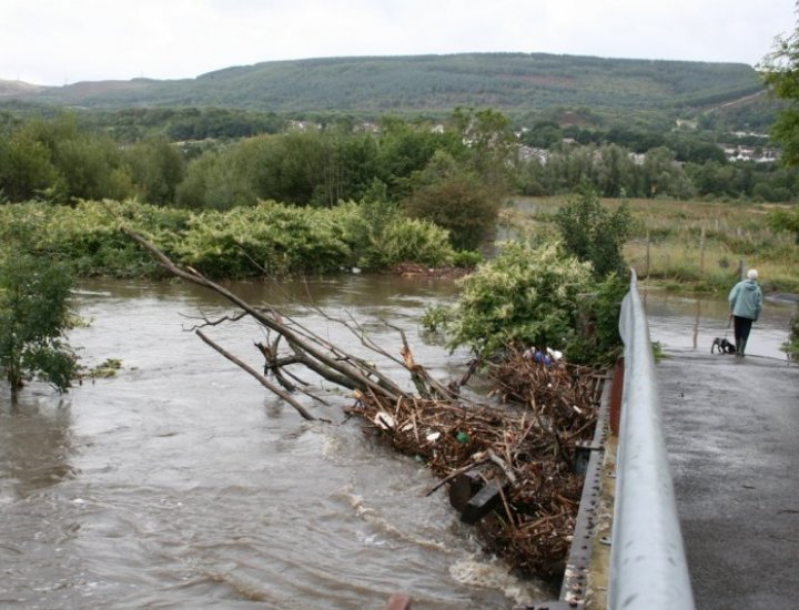 No way through flooding at Tirfounder Fields