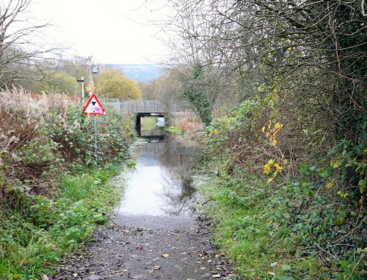 Public Right of Way Flooded at the Ynys photo taken today Sunday  16 November 2014