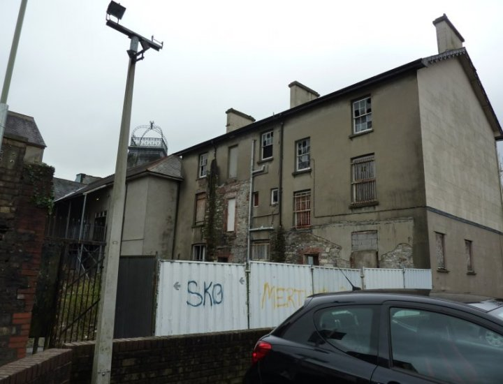 Rear of the Old Treasury Building High Street Aberdare not Part of the £7.7 MULTI-MILLION-POUND scheme to regenerate Aberdare to