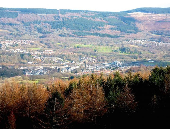 Aberdare from mountain above Country Park