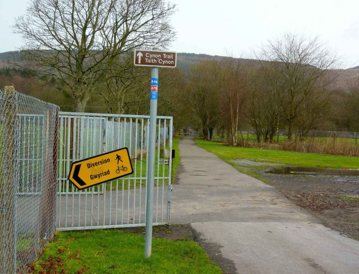 Aberdare Cynon Trail Closed due to flooding 11 January 2014