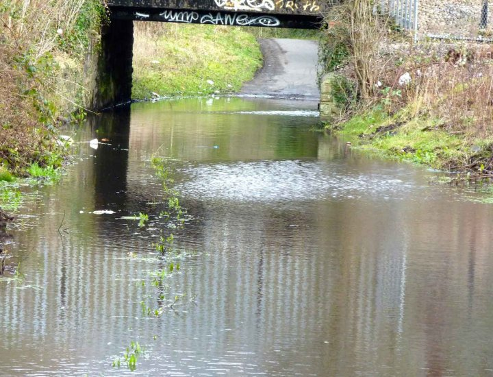 Flooding on the Cynon Trail 11 January 2015
