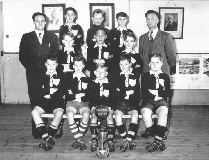 Park School football team – champions 1956-57