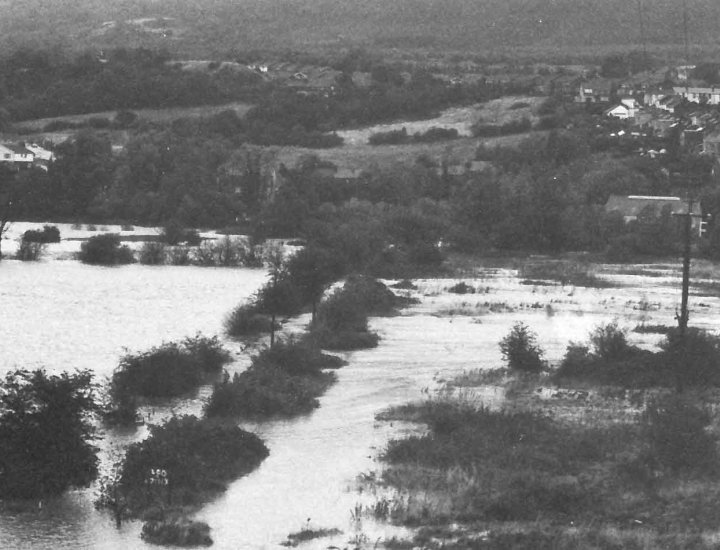 1980 Flooding at Tirfounder Fields now part of the Persimmon Coed Dyffryn site