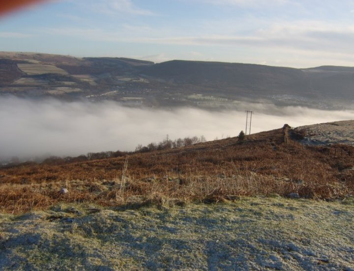 cynon valley on a foggy day