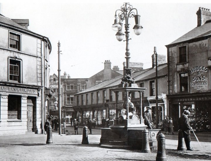 Victoria Square F. W. Woolworth in the background around 1924